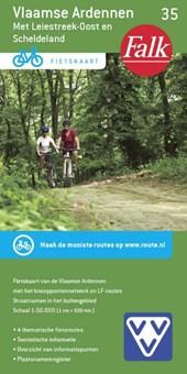 Falk VVV fietskaart 35 Vlaamse Ardennen 2017-2019, 2e druk met Leiestreek-oost en Scheldeland