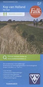 Falk VVV wandelkaart 07 Kop van Noord-Holland inclusief Texel met wandelknooppunten
