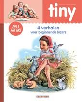 Tiny leren lezen AVI 1: Tiny - 4 Verhalen voor beginnende lezers (roze) AVI 1 - M3