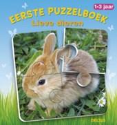 Eerste puzzelboek Lieve dieren 1-3 jaar
