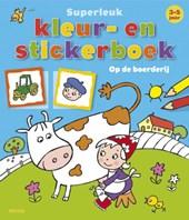 Superleuk kleur- en stickerboek
