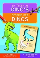 Zo teken je dino's (sjabloonkaarten)