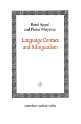 Language Contact and Bilingualism | René Appel ; Pieter Muysken |