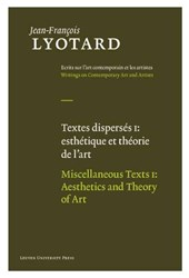Textes disperses sur lart contemporain et les artistes / Various Texts on Contemporay Art and Artists | Jean-François Lyotard & Herman Parret |