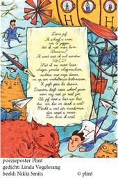 Poeziekaart Plint L. Vogelesang Lieve juf 7372  Navulset (10 stuks)