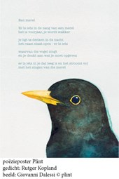Poeziekaart een merel