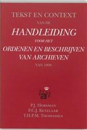 Tekst en context van de handleiding voor het ordenen en beschrijven van archieven van