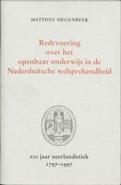 Redevoering over het openbaar onderwijs in de Nederduitsche welsprekendheid