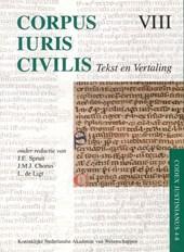 Corpus Iuris Civilis VIII; Codex Justinianus 4 - 8 VIII Codex Justinianus iv-viii