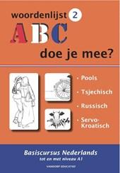 ABC - Doe je mee? Woordenlijst 2