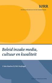 Beleid inzake media, cultuur en kwaliteit
