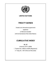 Treaty Series Cumulative Index No.