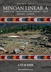 Minoan Linear A, Volume II, Part