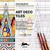 Art Deco Tiles - Colouring Card Book