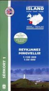 Island Serkort 01 Reykjanes - Pingvellir 1 : 100 000 / 1 :