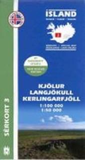 Island Serkort 03 Kjölur - Langjökull - Kerlingarfjöll 1 : 100 000 / 1 :
