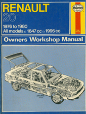 Ian Coomber - Haynes Renault 20 / 1976 to 1980. Owners Workshop Manual