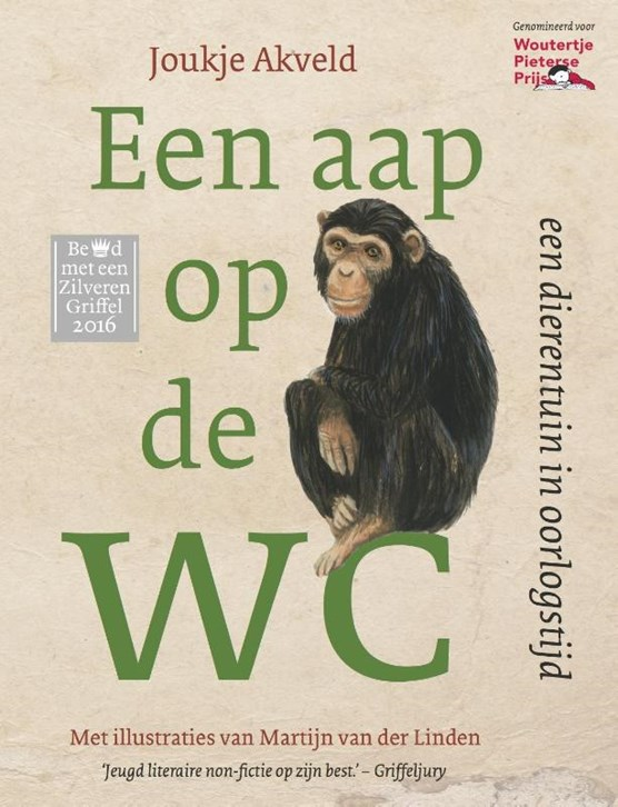 Een aap op de wc