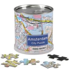 Amsterdam City Puzzle - Magnetische puzzel met 100 stukjes van de plattegrond van Amsterdam