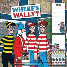 Where's Wally Household Square Wall Planner Calendar 2021