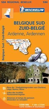 534 Belgique Sud, Ardenne - Zuid-België, Ardennen | Michelin | 9782067183483