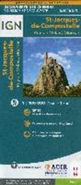 St-Jacques de Compostelle. Le Puy-Moissac. Découverte des chemins 1:100.000 | auteur onbekend | 9782758536321