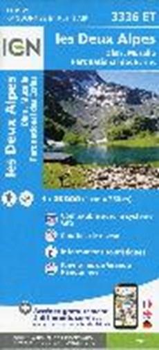 IGN 3336ET les Deux Alpes. Olan-Muzelle. PN des Ecrins 1:25 000 wandelkaart
