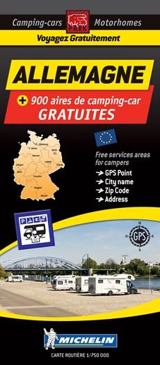 Germany Motorhome Stopovers - Allemagne aires gratuites 1:750.000 Michelin Camper stopplaatsen Duitsland Trailer's Park kaart
