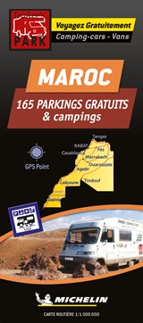 Morocco Motorhome Stopovers - Maroc aires gratuites 1:1m Michelin Camper stopplaatsen Trailer's Park kaart | auteur onbekend |