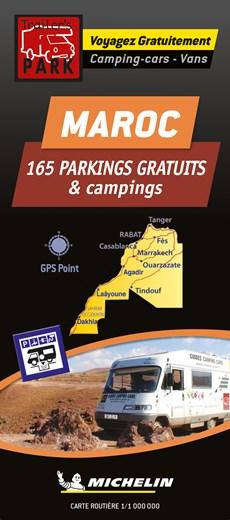 Morocco Motorhome Stopovers - Maroc aires gratuites 1:1m Michelin Camper stopplaatsen Trailer's Park kaart