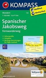 Kompass WK133 Spanischer Jakobsweg | auteur onbekend | 9783850267076