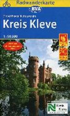 Radwanderkarte BVA Radwandern im Kreis Kleve 1:50.000