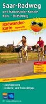 Saar-Radweg und französische Kanäle, Trier - Strasbourg Leporello Radtourenkarte 1:50 000 | auteur onbekend | 9783899206173