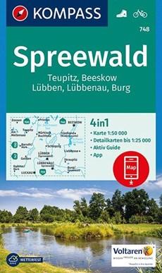 Kompass WK748 Spreewald, Teupitz, Beeskow, Lübben, Burg