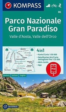 Parco Nazionale Gran Paradiso, Valle d'Aosta, Valle dell'Orco 1:50 000
