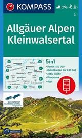 Allgäuer Alpen, Kleinwalsertal 1:50 000 | auteur onbekend | 9783990444672