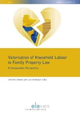 Valorisation of Household Labour in Family Property Law | Leon Verstappen |